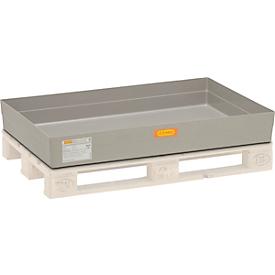GFK-Paletten-Auffangwanne 150 CEMO, für Euro-Paletten, B 1200 x T x 800 x H 208 mm, mit Arretierungsnocken
