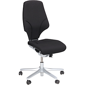 Giroflex Bürostuhl Modell 64, ohne Armlehnen, verschleißfreie Synchronmechanik, bis 150 kg,