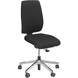 Giroflex Bürostuhl Modell 68, o. Armlehnen, Synchronmechanik, Ledenwirbelstütze, schwarz