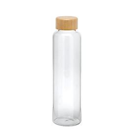 Glasflasche Glossy - Borosilikatglas, ca. 500ml, Transparent, Auswahl Werbeanbringung optional