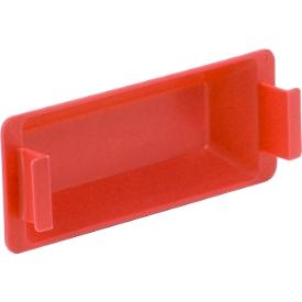 Greepsluiting voor Euronorm bak MF, rood