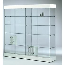 Grote glazen vitrinekast GRANAT, wit