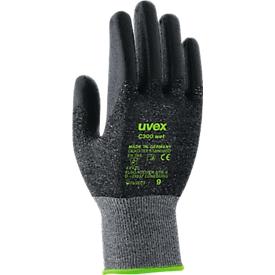 Guantes de protección contra cortes uvex C300 wet, talla 9