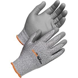 Guantes de protección contra el corte Worksafe Cut 3-107, resistencia al corte 3, EN388, HPPE/PU, sin costuras, talla 9, 6 pares