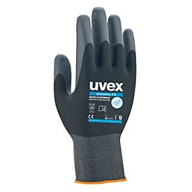 Guantes de trabajo uvex phynomic XG, EN 388 4 1 2 1 X, poliamida/elastano, negro, talla 10, 10 pares