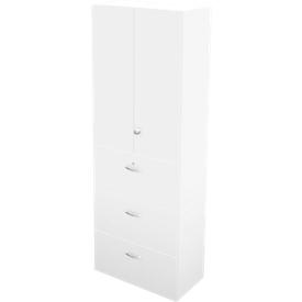 Hängeregistraturschrank TETRIS WALL, 3 Ordnerhöhen, 3 Schübe, B 800 x T 440 x H 2250 mm, weiß