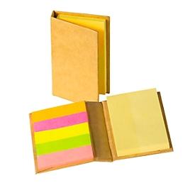 Haftnotiz-Buch Mini, Natur, Standard, Auswahl Werbeanbringung optional