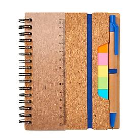 Haftnotizbuch, Blau, Standard, Auswahl Werbeanbringung optional