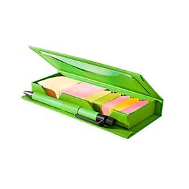 Haftnotizzettel-Box, Grün, Standard, Auswahl Werbeanbringung optional
