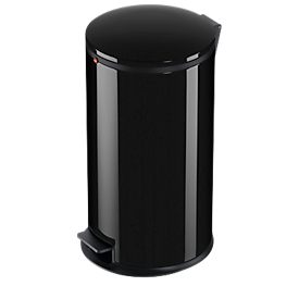 Hailo pedaalafvalverzamelaar Pure L, 25 liter, gedempt deksel-sluitmechanisme, zwart
