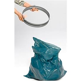 Haltering VAR, für 120-l-Müllsäcke & Abfallsammler mit Einwurföffnung ø 350 mm, mit Gummikordel, Stahl