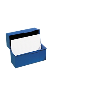 HAN kaartenbak, kunststof, A5 liggend, open, blauw