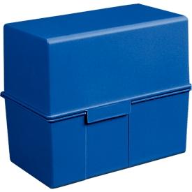 HAN Karteikasten, Kunststoff, DIN A6 quer, blau