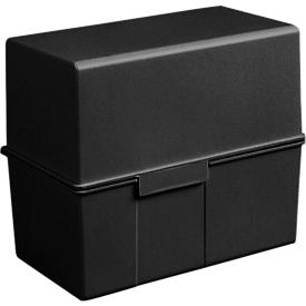 HAN Karteikasten, Kunststoff, DIN A6 quer, schwarz