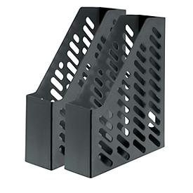 HAN Stehsammler, Breite 76 mm, Kunststoff, 2 Stück, schwarz