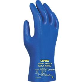 Handschoen met bescherming tegen chemicaliën uvex rubiflex S NB27B, gebreid, NBR-coating, EN 374/type A, ergonomisch, 10 paar, maat 10