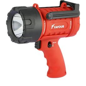 Handstrahler PROTECH S0233, LED, Reichweite 300 m, Batterie 100 h, Tragegurt, IP 67, 250 lm