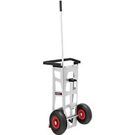 Handwagen Flora Easy, Halterung für Greifboy & Halterung für 120 l Müllsack, Aluminium & Stahl