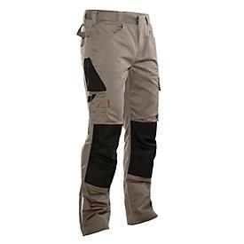 Handwerker Bundhose Jobman 2321 PRACTICAL, mit Kniepolstertaschen, khaki I schwarz, Gr.60