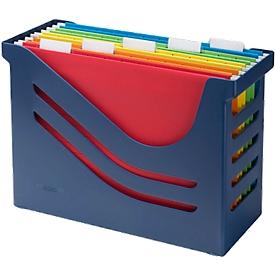 Hangmappenbox Jalema Re-Solution A4 voor 15 hangmappen, incl. 5 mappen, blauw