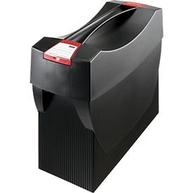 Hangmappenbox Swing, zwart/rood