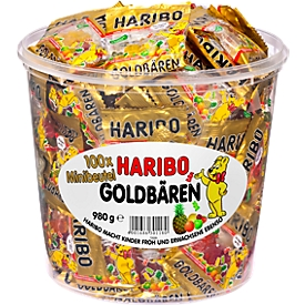 HARIBO goudberen, emmer van 100 minizakjes