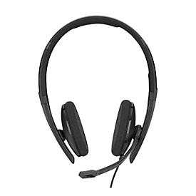 Headset Sennheiser SC 160 USB-C, binaural, große Ohrpolster, In-Line Call Control
