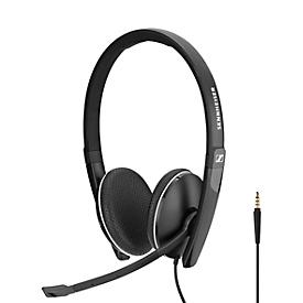 Headset Sennheiser SC 165, stereogeluid, met klinkstekker, UC-geoptimaliseerd, voor smartphone/tablet