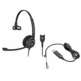 Headset Sennheiser SC 230, kabelgebunden, monaural, einstellb. Kopfbügel +Telefonadap