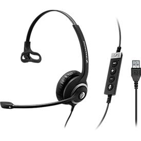 Headset Sennheiser SC 230 USB MS II, kabelgebunden/monaural, Skype-zertifiziert, Kopfbügel verstellbar