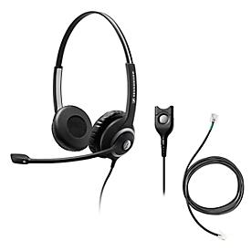 Headset Sennheiser SC 260, kabelgebunden, binaural, Kopfbügel verstellbar +Telefonadapter CEHS-DHSG
