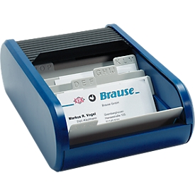 helit Visitenkartenbox, blau