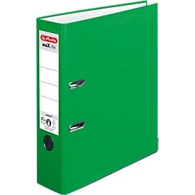 herlitz Ordner maX.file protect, DIN A4, Rückenbreite 80 mm, 20 Stück, hellgrün