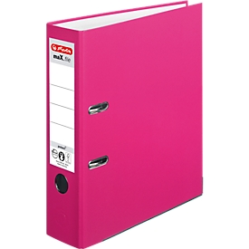 herlitz Ordner maX.file protect, DIN A4, Rückenbreite 80 mm, 20 Stück, pink