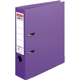 herlitz Ordner maX.file protect plus, DIN A4, Rückenbreite 80 mm, 10 Stück, violett