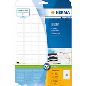 Herma Premium-Etiketten Nr. 4333 auf DIN A4-Blättern, 4725 Etiketten, 25 Bogen
