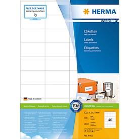 Herma Premium-Etiketten Nr. 4461 auf DIN A4-Blättern, 4000 Etiketten, 100 Bogen