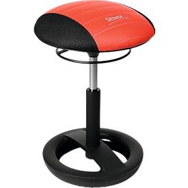 Hocker Sitness RS Bob, bewegliches Sitzen, höhenverstellbar, ergonomisch, schwarz/rot