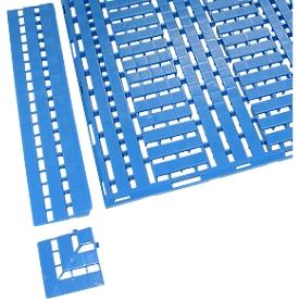 Hoek 112 x 112 mm, blauw