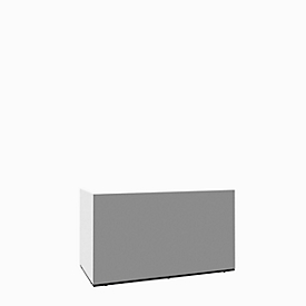 Hoekbalie Basic C, B 2476 x D 1676 mm (totaal)