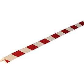Hoekbeschermprofiel type E, 1 m/stuk, wit/rood