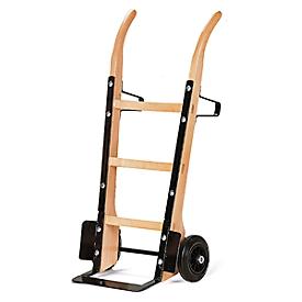 houten zakwagen met platte stalen schop, draagvermogen 250 kg, luchtbanden