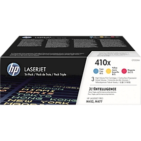 HP Color LaserJet 410X (CF252XM) printcassettes, cyaan + magenta + geel SET