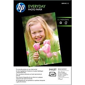 HP fotopapier Everyday, glanzend, 10 x 15 cm, 100 vellen