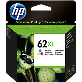 HP inktpatroon Nr. 62XL Tri-Color C2P07AE