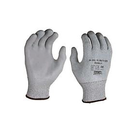 HPPE gebreide handschoen met snijbescherming Dondra, met PU microschuimcoating, 12 paar, m. L