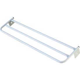 Hutablage für Umkleidebank, Stahl, 1015 mm lang, lichtgrau