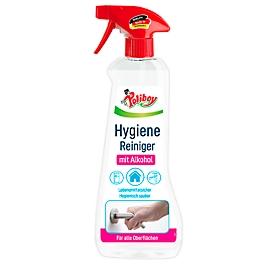 Hygienereiniger Poliboy, für Oberflächen, mit frischem Orangenduft, lebensmittelsicher, 0,5 l in Recycling-Sprühflasche