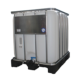 IBC container op kunststof pallet, 600L