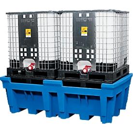 IBC- und KTC-Station für 2 Container, mit integrierter PE-Stellfläche
